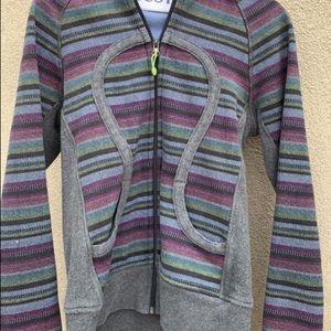 Vintage Lululemon Striped Scuba Hoodie